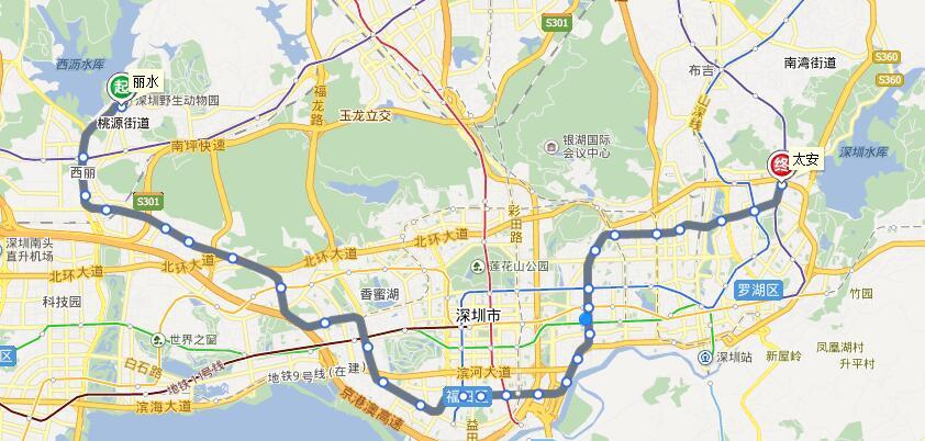 深圳地铁7号线地铁路线
