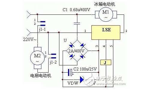 冰箱风冷同步控制器电路图