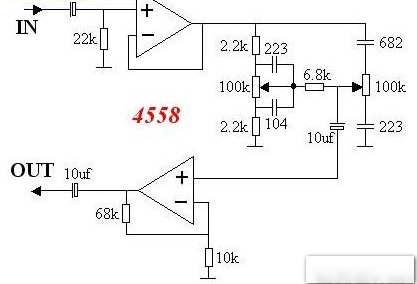 4558前级电路图