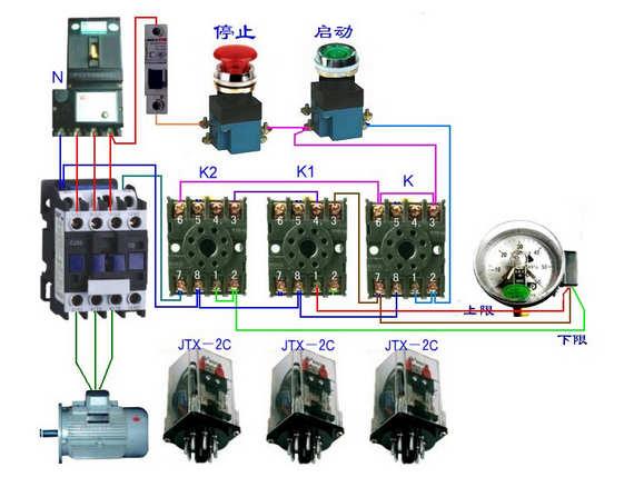 接触式继电器接线图