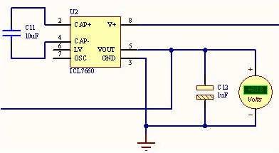 icl7660应用实例电路倍压变换器电路图