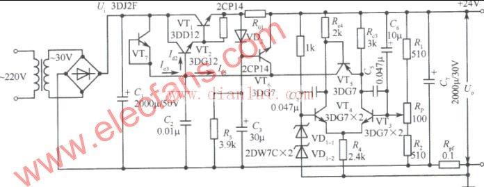 24v稳压电源电路图