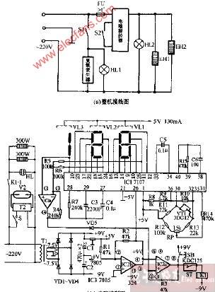 高宝dxw-62a双功能电子消毒柜电路图