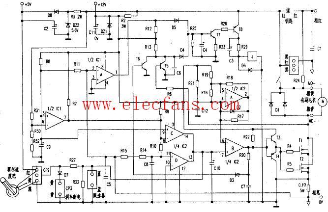 电瓶车控制器电路图