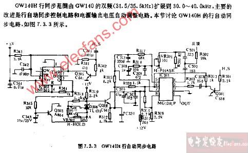 cw140h行自动同步电路图