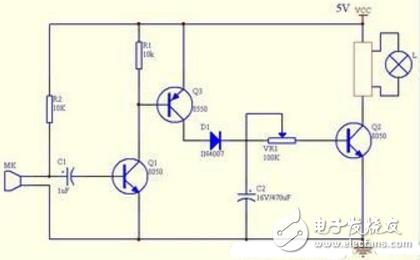声控灯原理电路图