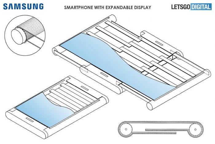 三星又一可拉伸柔性屏智能机专利曝光 采用双侧横向卷轴设计