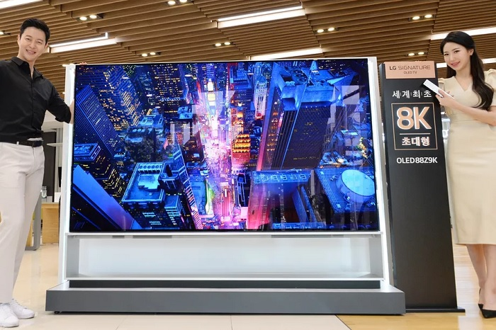 LG今日开售全球首款8K OLED电视 预订价23.36万元