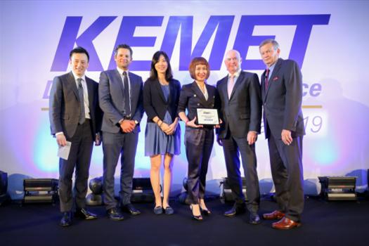 贸泽电子荣膺KEMET亚太区年度优质服务分销商称号