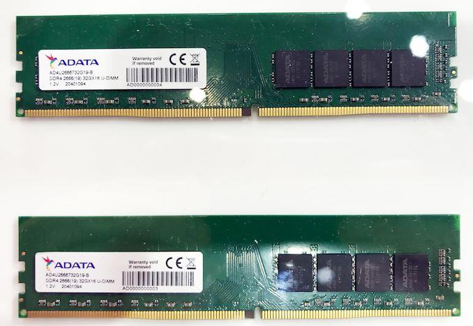威刚展示单条32GB DDR4内存模组 采用美光16Gb颗粒