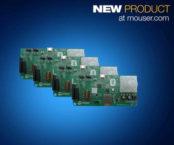 贸泽开售符合蓝牙SIG 标准的Cypress EZ-BT 网状网络评估套件