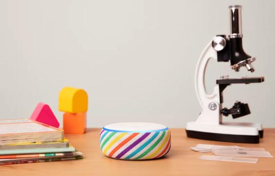 亚马逊发布新款Echo Dot儿童版扬声器 采用蓝色或彩虹色外观