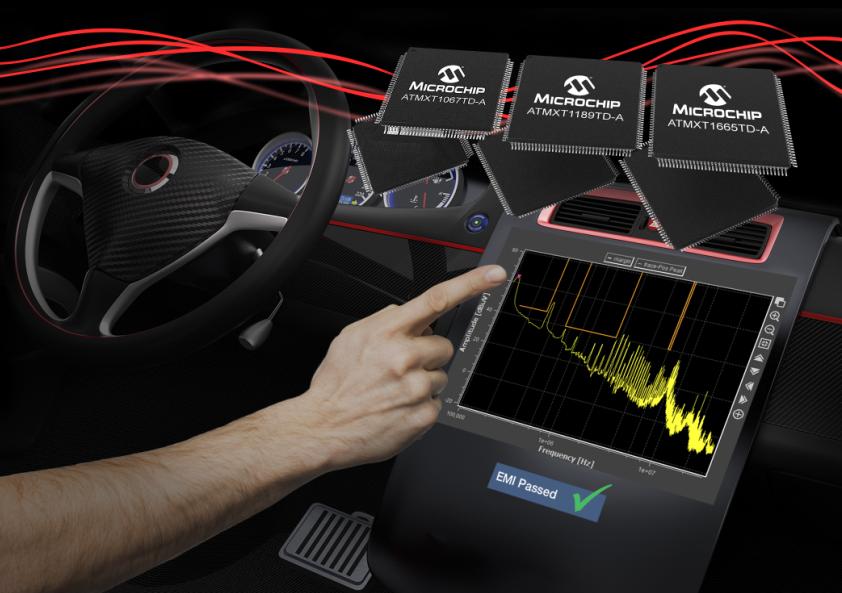Microchip推出新型电容触摸式控制器,加速汽车触摸屏EMI认证