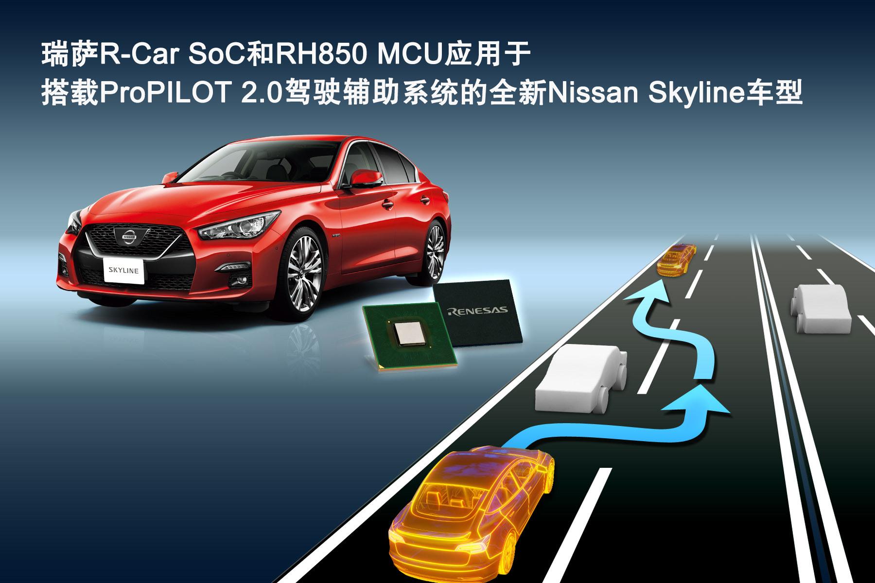 瑞萨电子创新型汽车电子芯片 适用于搭载ProPILOT 2.0驾驶辅助系统的全新Nissan Skyl…