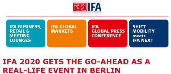 图片来自IFA官方