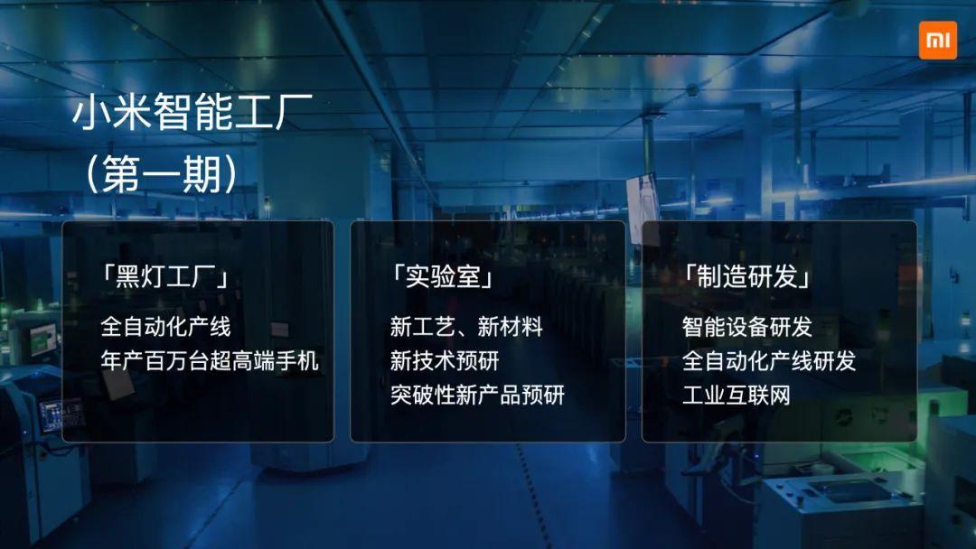 小米二期智能工厂2023年落成,投产后年产千万台超高端手机