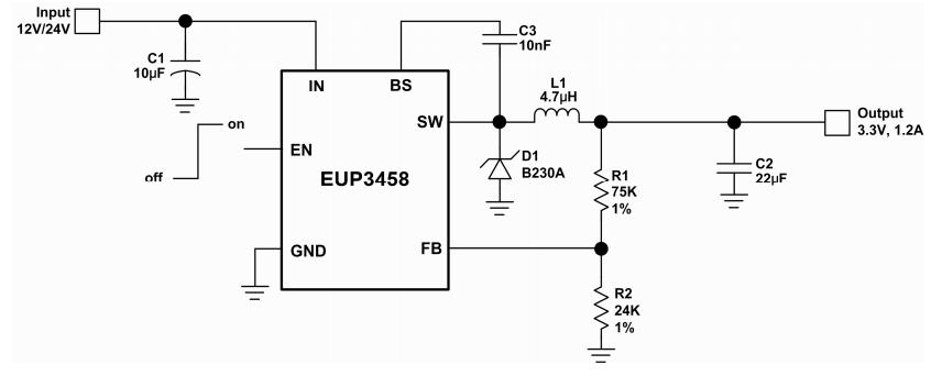 EUP3458VIR1引脚图