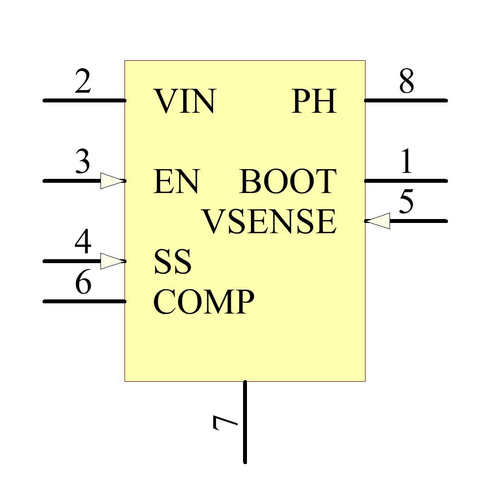 TPS54231DR引脚图