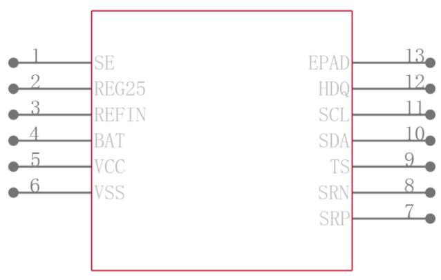 BQ27542DRZR-G1引脚图
