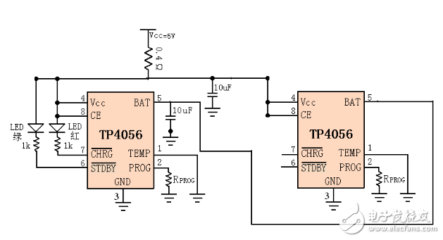 combined current circuit base two TP4056