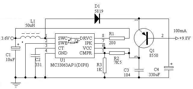 用MC34063做3.6V电转9V电路图.jpg