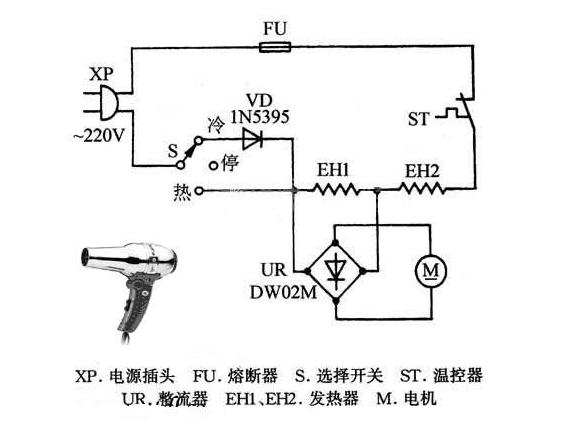 电吹风电路图